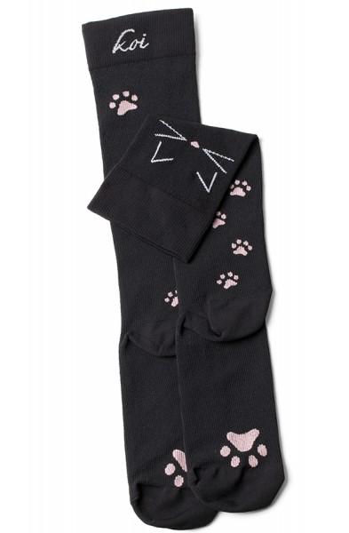 Chaussettes de contention Koi Meow Noires