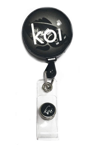 Porte badge rétractable Koi - Reel Black