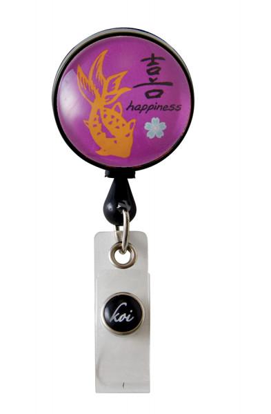 Porte badge rétractable Koi - Happiness